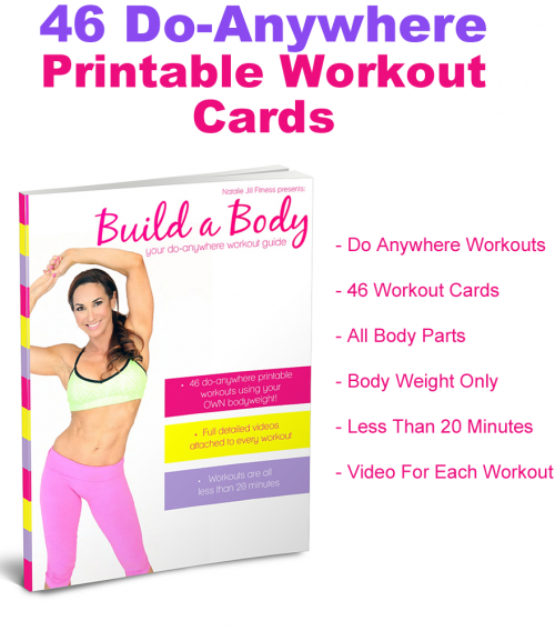 photo about Printable Workout Cards titled Establish A System - Natalie Jill Physical fitness