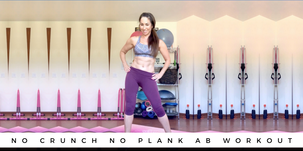 No Crunch No Plank AB Workout blog thumbnail
